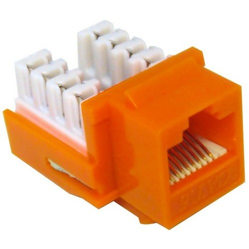 Cat6 (RJ45) Unshielded Keystone Jacks Orange