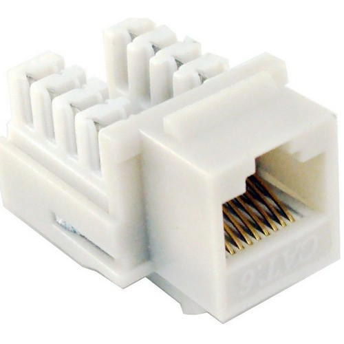 Cat6 (RJ45) Unshielded Keystone Jacks Lt Almond