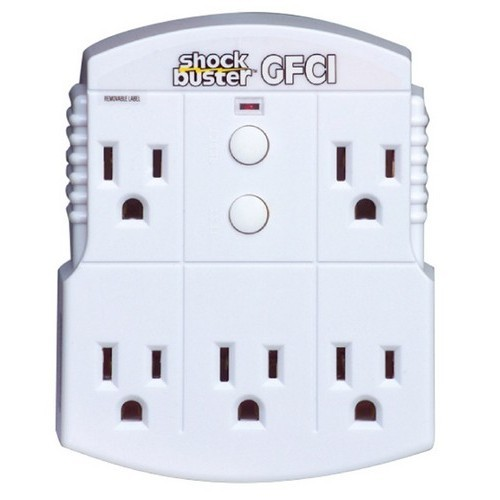 5 Outlet GFCI Shock Buster
