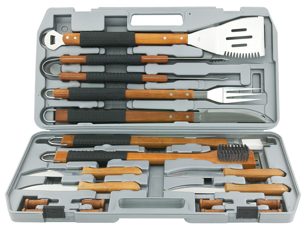 Uniflame 18 Piece Classic Prestige Rubber Grip Tool Set [Set of 4]