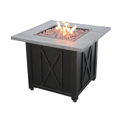 "30"" Square LP Gas Firepit"