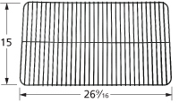 Porcelain steel bar cooking grid for Grill Mate, Uniflame brand gas grills
