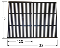 Matte Cast Iron Cooking Grid for Charbroil, Coleman, Kenmore, Master forge, Thermos, Uniflame Brand Gas Grills