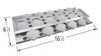 Porcelain steel heat plate for Broil-Mate, Grill Pro, Sterling brand gas grills