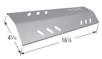 Porcelain steel heat plate for Aussie, Blooma, Outback, Sahara brand gas grills