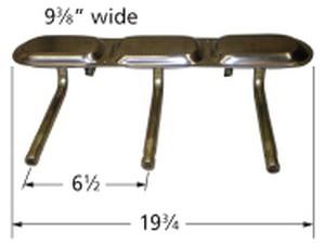 """stainless steel burner; Aussie; 20.5"""" x 8"""""""