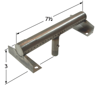 """stainless steel burner; Charbroil; 7"""" x 3"""""""