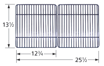 Porcelain steel channels cooking grid for BBQ Grillware, BBQ Tek, Bond, Broil Chef, Four Seasons, Tera Gear brand gas grills
