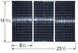 Stamped porcelain steel cooking grid for Ducane, Master Forge brand gas grills