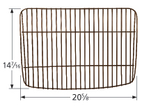 Porcelain steel bar cooking grid for Backyard Grill, Uniflame brand gas grills