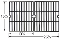 Matte cast iron cooking grid for Charbroil, Hamilton Beach, Kenmore, Permasteel brand gas grills