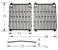Gloss cast iron cooking grid for Kenmore, Nexgrill brand gas grills