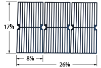 Matte cast iron cooking grid for BBQ Pro brand gas grills