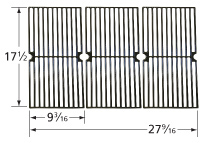 Matte cast iron cooking grid for Brinkmann, Dyna-Glo, Master Forge brand gas grills