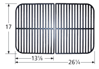 Gloss cast iron cooking grid for Kenmore, Master Forge, Permasteel brand gas grills