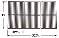 Gloss cast iron cooking grid for Kenmore, Permasteel, Presidents Choice brand gas grills