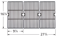 Gloss cast iron cooking grid for Charbroil, Master Forge brand gas grills