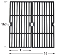 Gloss cast iron cooking grid for Nexgrill, Uniflame brand gas grills