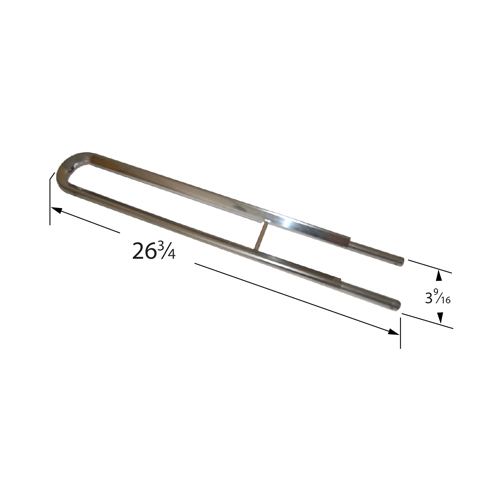 Stainless Steel Burner for Charbroil, Kenmore Brand Gas Grills