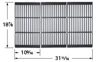 Matte cast iron cooking grid for Broil King, Huntington, Master Forge brand gas grills