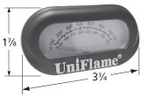 Heat indicator for Backyard Grill, BBQ Grillware, BBQ Tek, Better Homes & Gardens, Black & Decker, Cuisinart, Grill Chef-Landman
