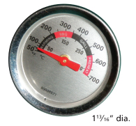 Heat indicator for Backyard Grill, Uniflame brand gas grills