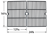 Matte cast iron cooking grid for Backyard Grill, Kenmore, Permasteel brand gas grills