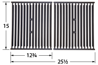 Matte cast iron cooking grid for Stok brand gas grills