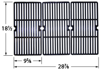 Gloss cast iron cooking grid for Charbroil, Kenmore, Master Forge, Nexgrill, Phoenix-UK, Tera Gear brand gas grills