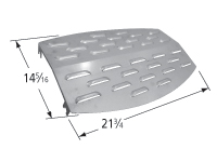 Porcelain steel heat plate for Kenmore, Saturn brand gas grills