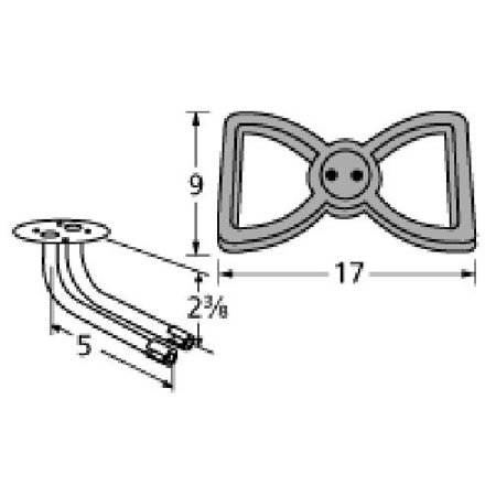 Cast iron burner head for Broilmaster brand gas grills
