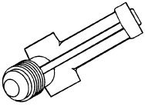 Brass valve for Arkla, Sunbeam brand gas grills