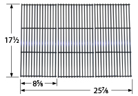 Porcelain steel channels cooking grid for Charbroil brand gas grills