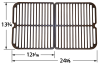 Matte cast iron cooking grid for Cuisinart brand gas grills