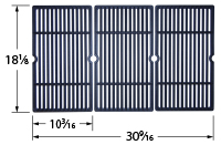 Matte cast iron cooking grid for Outdoor Gourmet brand gas grills