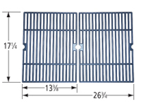 Matte cast iron cooking grid for Master Forge brand gas grills