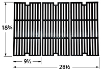 Matte cast iron cooking grid for Charbroil brand gas grills