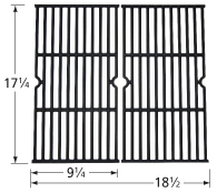 Matte cast iron cooking grid for Charbroil, Kenmore brand gas grills