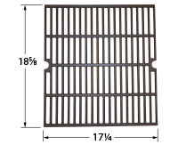 Matte cast iron cooking grid for Kenmore, Permasteel brand gas grills