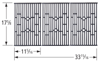 Matte cast iron cooking grid for Weber brand gas grills