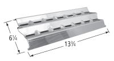 Porcelain steel 5-pc heat angle set for Weber brand gas grills