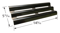 Aluminized steel heat plate for Broil-Mate, Master Forge brand gas grills