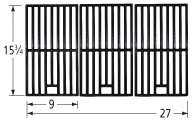 Gloss cast iron cooking grid for Master Cook brand gas grills