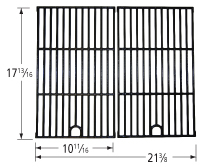 Matte cast iron cooking grid for Backyard Grill brand gas grills