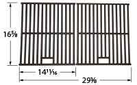 2-pc cast iron cooking grid set for Chargriller brand gas grills