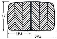 Matte finished cast iron cooking grid for Brinkmann brand gas grills