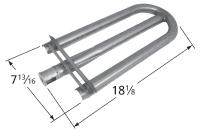 Aluminized steel burner for Ducane brand gas grills