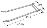 "stainless steel burner; Ducane; 17.25"" x 6.125"""