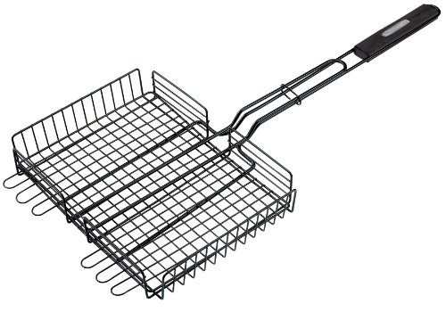 GrillPro 24874 Deluxe Non-Stick Broiler Basket for the Grill, 9-1/2-Inch by 12-Inch
