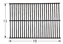Porcelain Steel Wire Cooking Grid for Bakers & Chefs, Brinkmann, Centro, Charbroil, Grand Hall, Jenn-Air, Kitchen Aid, Members M